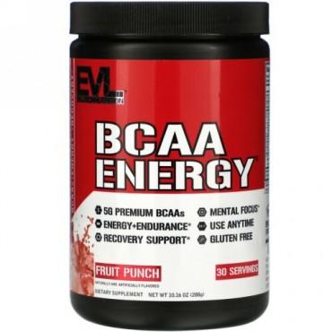 EVLution Nutrition, BCAA ENERGY(BCAAエネルギー)、フルーツポンチ味、288g(10.16オンス)