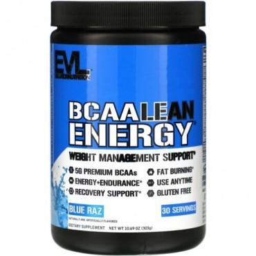 EVLution Nutrition, BCAA LEAN ENERGY(BCAAリーンエネルギー)、ブルーラズ、303g(10.60オンス)