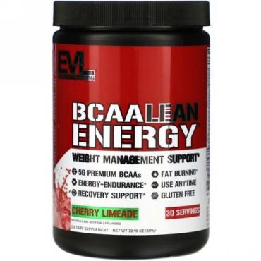 EVLution Nutrition, BCAA LEAN ENERGY(BCAAリーンエネルギー)、チェリーレモネード、309g(10.90オンス)