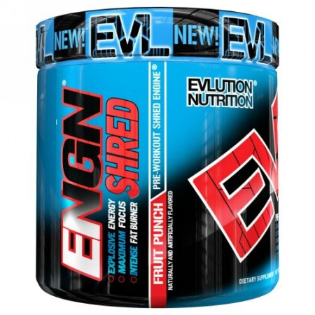 EVLution Nutrition, ENGN Shred, Pre-Workout Shred Engine, Fruit Punch, 8.4 oz (237 g) (Discontinued Item)