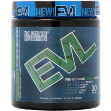 EVLution Nutrition, ENGN Shred、プレワークアウトシュレッドエンジン、グリーンアップル、7.8オンス (222 g) (Discontinued Item)