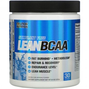 EVLution Nutrition, LEAN BCAA, Blue Raz, 8.4 oz (237 g)