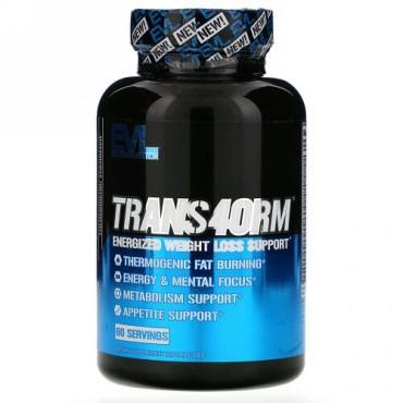 EVLution Nutrition, Trans4orm(トランスフォーム)、エナジャイズドウェイトロスサポート、カプセル120粒