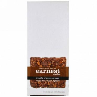 Earnest Eats, ベークドホールフードバー、ダブルチョコエスプレッソ、12本、各1.8オンス (52 g) (Discontinued Item)