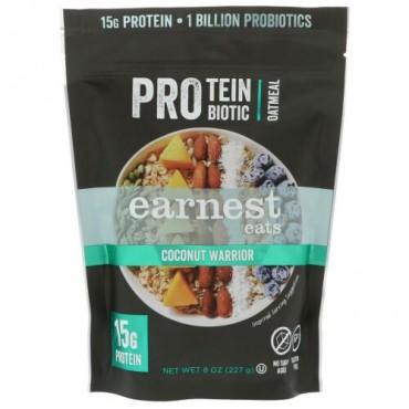 Earnest Eats, プロテインプロバイオテックオートミール、ココナッツウォーリアー、8オンス (227 g)