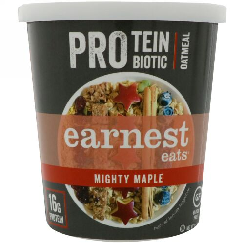 Earnest Eats, Protein Probiotic Oatmeal, Mighty Maple, 2.5 oz (71 g) (Discontinued Item)