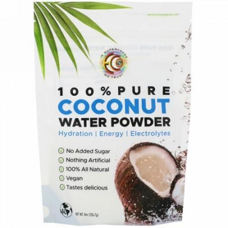 Earth Circle Organics, 100% Pure Coconut Water Powder, 8 oz (226.7 g) (Discontinued Item)