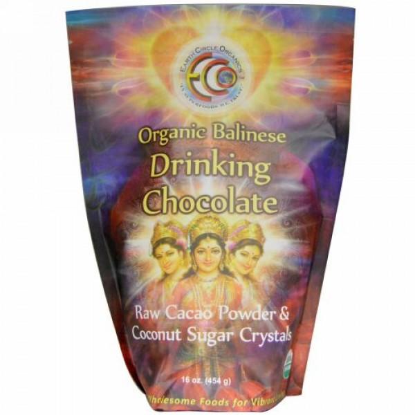 Earth Circle Organics, バリ産オーガニックチョコレートドリンク、16オンス(454 g) (Discontinued Item)