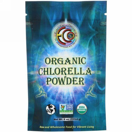 Earth Circle Organics, オーガニッククロレラパウダー、113.4g(4oz)