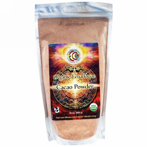 Earth Circle Organics, ココアパウダー、オーガニック、エクアドル産、16 oz (454 g) (Discontinued Item)