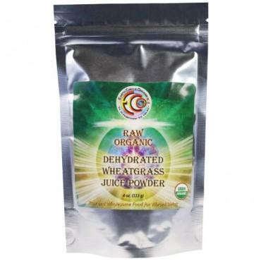 Earth Circle Organics, ロー オーガニック 乾燥 ウィートグラス ジュースパウダー、4 oz (113 g) (Discontinued Item)