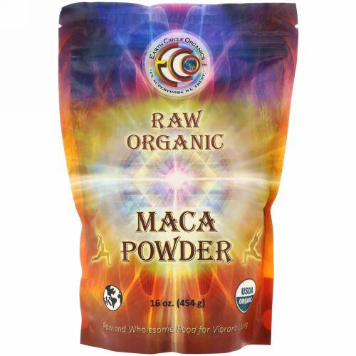 Earth Circle Organics, 生オーガニックマカパウダー、 16オンス (454 g)