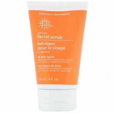Earth Science, Facial Scrub, Apricot, 4 fl oz (118 ml)