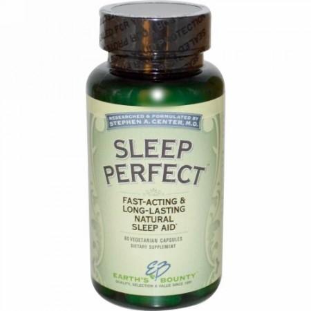 Earth's Bounty, Sleep Perfect, 60 Vegetarian Capsules