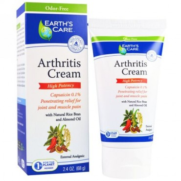 Earth's Care, 関節炎クリーム、2.4オンス(68g) (Discontinued Item)