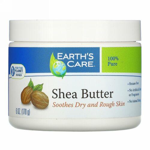 Earth's Care, シアバター、純度100%、6オンス(170g)