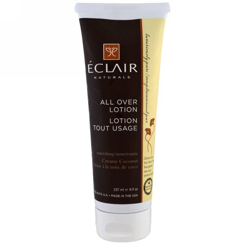 Eclair Naturals, オールオーバーローション、クリーミーココナッツ、8液量オンス(237 ml) (Discontinued Item)