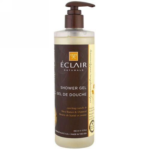 Eclair Naturals, シャワージェル, 濃縮, シアバター & オートミール, 12液量オンス (355 ml) (Discontinued Item)