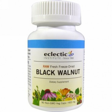 Eclectic Institute, Black Walnut, 400 mg, 90 Veg Caps