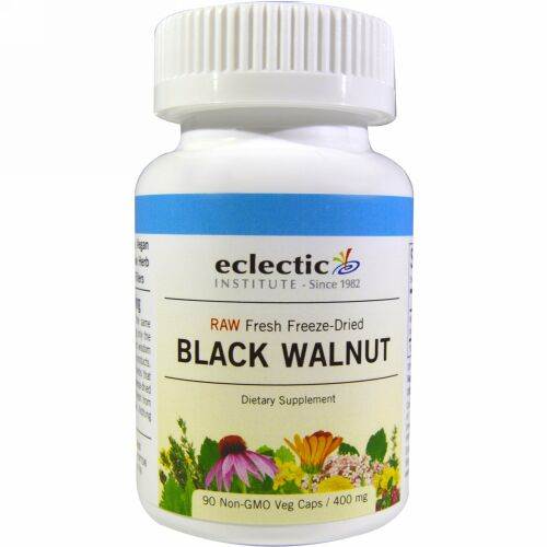Eclectic Institute, Black Walnut, 400 mg, 90 Veg Caps
