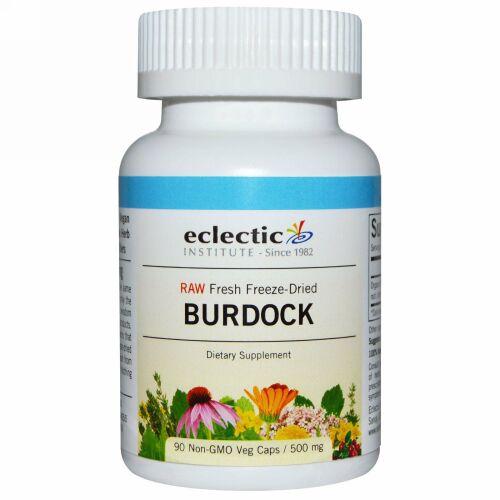 Eclectic Institute, Burdock, Raw, 500 mg, 90 Non-GMO Veg Caps