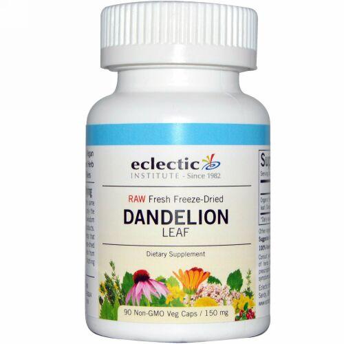 Eclectic Institute, Dandelion Leaf, 150 mg, 90 Non-GMO Veg Caps