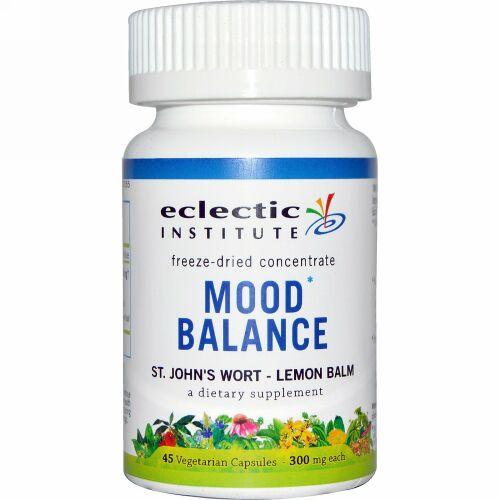 Eclectic Institute, 気分の安定(Mood Balance), セイヨウオトギリソウ(St. John's Wort) - レモンバーム, 300 mg, 45粒(ベジタリアンカプセル) (Discontinued Item)