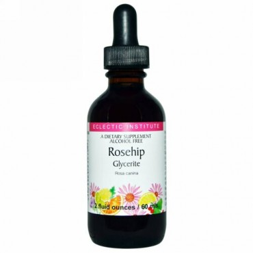 Eclectic Institute, ローズヒップグリセライト、アルコールフリー、2 fl oz (60 ml) (Discontinued Item)