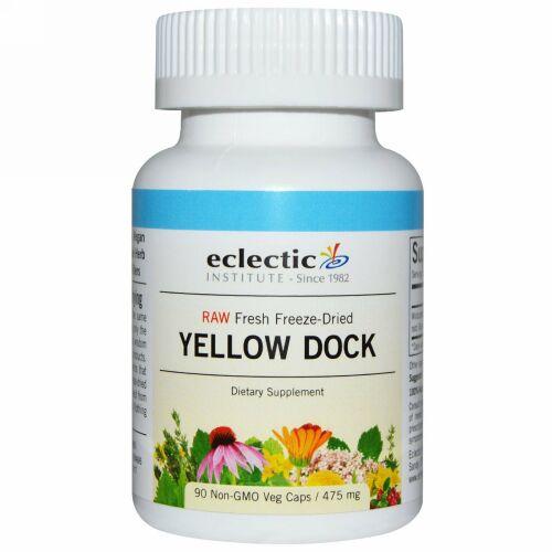 Eclectic Institute, Yellow Dock, 475 mg, 90 Non-GMO Veggie Caps (Discontinued Item)