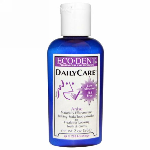 Eco-Dent, デイリーケア、ベーキングソーダ歯磨き粉、アニス、2 oz (56 g) (Discontinued Item)
