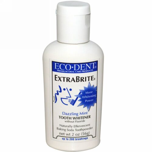 Eco-Dent, エコデント, ExtraBrite, Tooth Whitener, without Fluoride, Dazzling Mint, 2 oz (56 g)