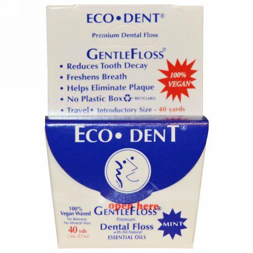 Eco-Dent, GentleFloss(デンタルフロス), ミント, 40ヤード (36.57 m) (Discontinued Item)