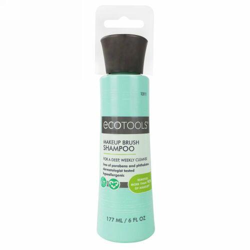 EcoTools, メイクアップブラシシャンプー、6液1回分の成分量( 177 ml )