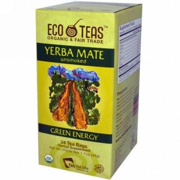 Eco Teas, マテ茶、 非燻製、 グリーンエネルギー、 24ティーバッグ、 1.7 oz (48 g) (Discontinued Item)