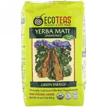 Eco Teas, マテ茶ピュア茶葉、 グリーンエネルギー、 非燻製、 16 oz (454 g) (Discontinued Item)