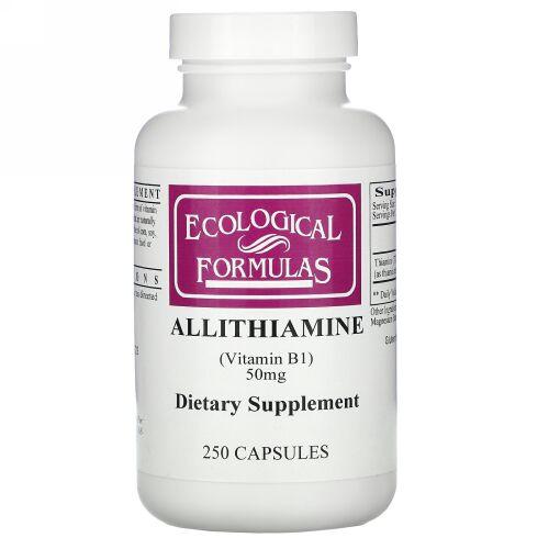 Ecological Formulas, エコロジカル・フォーミュラ、アリチアミン (ビタミンB1)、50 mg、カプセル250 錠