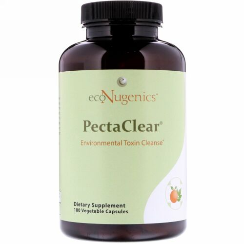Econugenics, PectaClear、環境有害物質クレンズ、180野菜カプセル