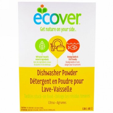 Ecover, 食洗機洗剤、シトラスの香り、48 oz (1.36 kg) (Discontinued Item)
