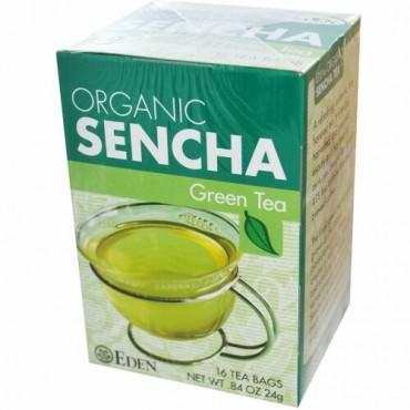 Eden Foods, オーガニック, 煎茶, ティーバッグ 16 袋, .84  オンス (24 g) (Discontinued Item)