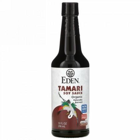 Eden Foods, オーガニック、たまり醤油、10 fl oz (296 ml)