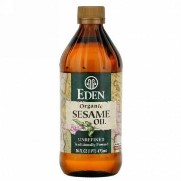 Eden Foods, 有機ごま油、未精製、16 fl oz (473 ml)