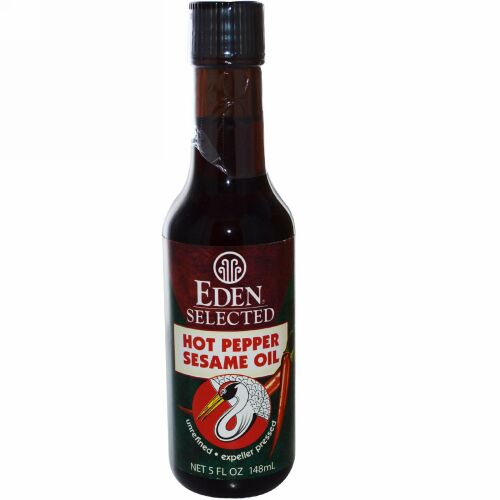 Eden Foods, セレクション、 ホットペッパー セサミ オイル、 5 fl oz (148 ml) (Discontinued Item)