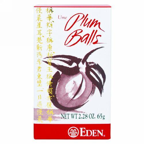 Eden Foods, 梅プラムボール、 2.28 oz (65 g)