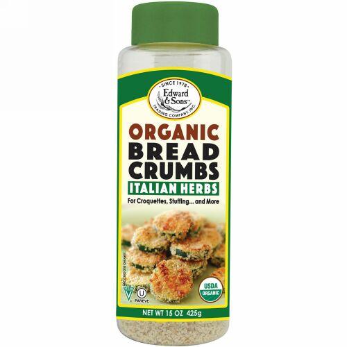 Edward & Sons, Breadcrumbs, Italian Herbs, Organic, 15 oz (425 g) (Discontinued Item)