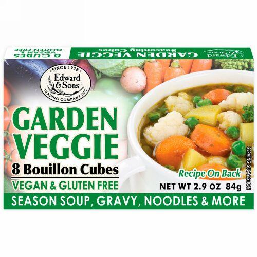 Edward & Sons, Edward & Sons, Garden Veggie, Bouillon Cubes, 8 Cubes