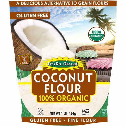 Edward & Sons, Edward & Sons, Let's Do Organic, 100% Organic Coconut Flour, 1 lb (454 g)