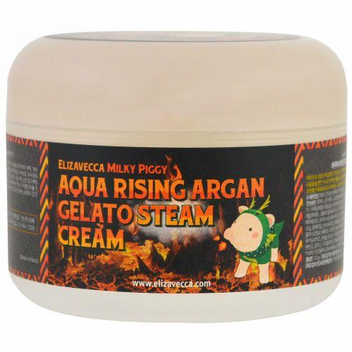 Elizavecca, アクアライジング・アルガン・ジェラートスチームクリーム、100 g