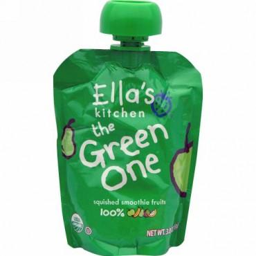 Ella's Kitchen, 緑色のヤツ, 押し潰したスムージーフルーツ, 3.0オンス(85 g) (Discontinued Item)