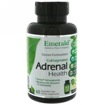 Emerald Laboratories, コエンザイム副腎の健康、ベジキャップ60錠 (Discontinued Item)
