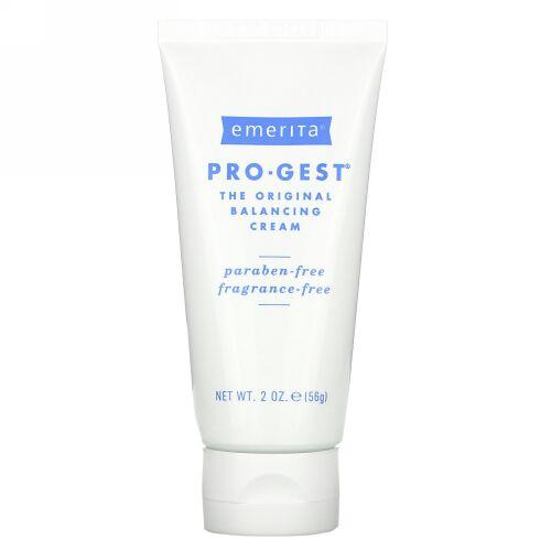 Emerita, プロジェスト、バランシングクリーム、無香料、2オンス(56 g)